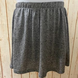 Topshop Heather Grey Casual Skater Skirt